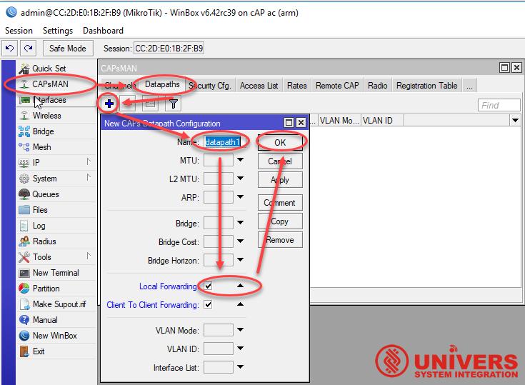 Настройка MikroTik CAPsMAN v2 роуминг сертификаты от UniSI